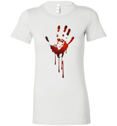 Creepy Bloody Hand Women's T-Shirt