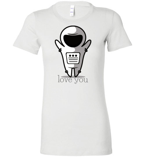 Love You Space Boy Women's Slim Fit T-Shirt
