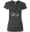 Merry Everything and Happy Always Women's Slim Fit T-Shirt