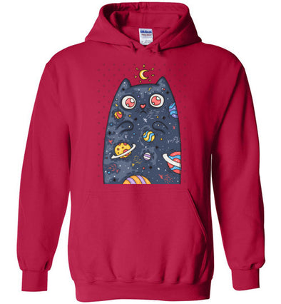 Moon Cat with Planets Unisex & Youth Hoodie