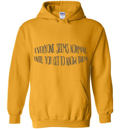 Everyone Seems Normal Until You Get To Know Them Unisex & Youth Hoodie
