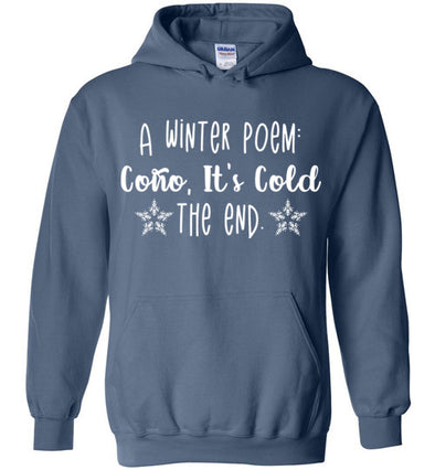 A Winter Poem Adult & Youth Hoodie