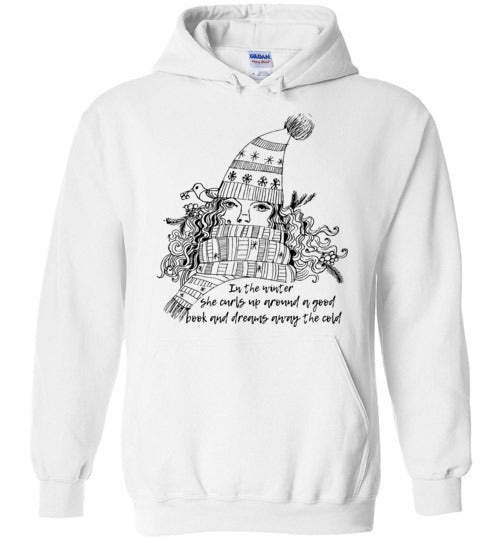 She Curls Up Around A Good Book Adult  & Youth Hoodie
