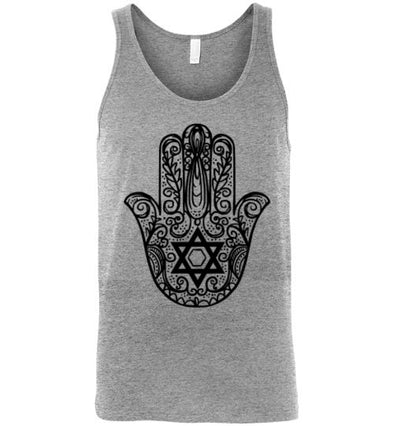 Hamsa Hand With Star Of David Adult Tank Top