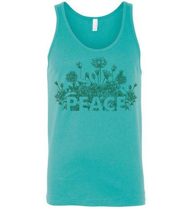 Peace Flowers Adult Tank