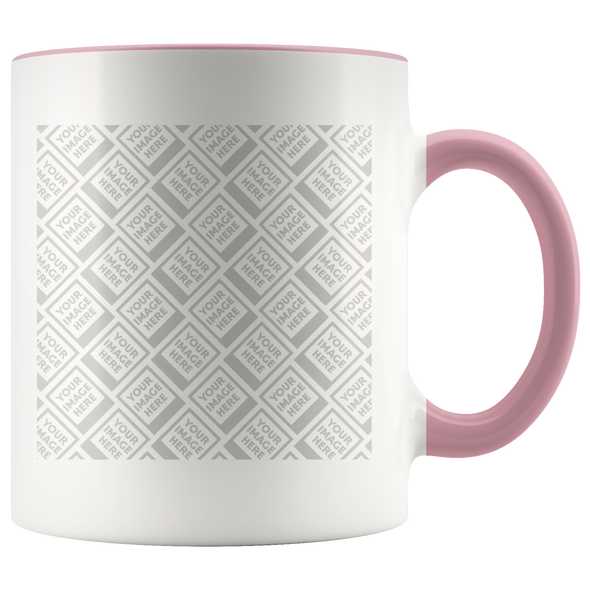 White 11oz Accent Mug - Personalized by YOU!