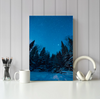 Winter Night Canvas Wall Art