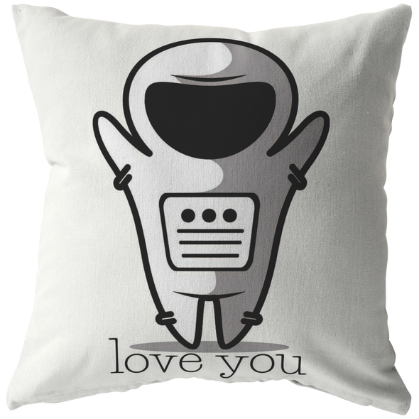 Space Love Throw Pillow