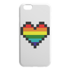 Pixelated Pride Heart iPhone Case