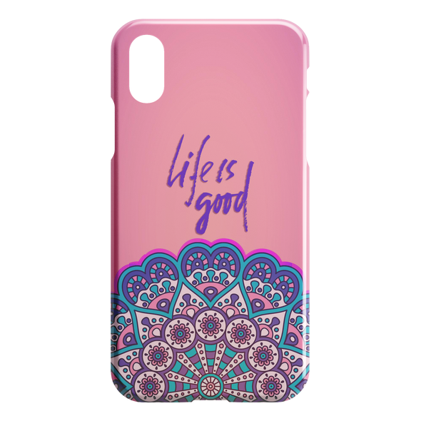 Life is Good Mandala iPhone Case