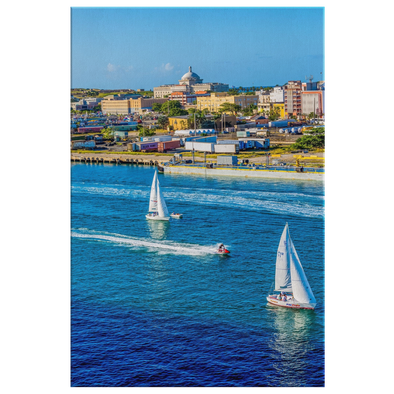 Sailboats San Juan Puerto Rico Canvas Wall Art
