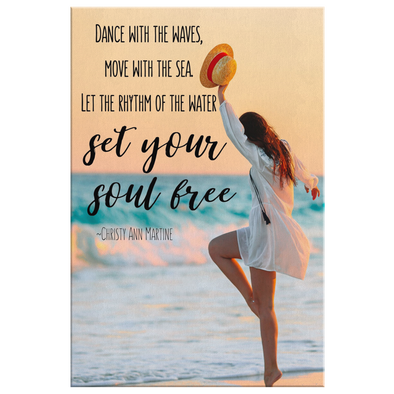 Dance With The Waves Canvas Wall Art