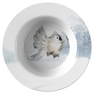 "Amazing Winter Bird 8.5"" bowl"