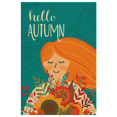 Hello Autumn Canvas Wall Art
