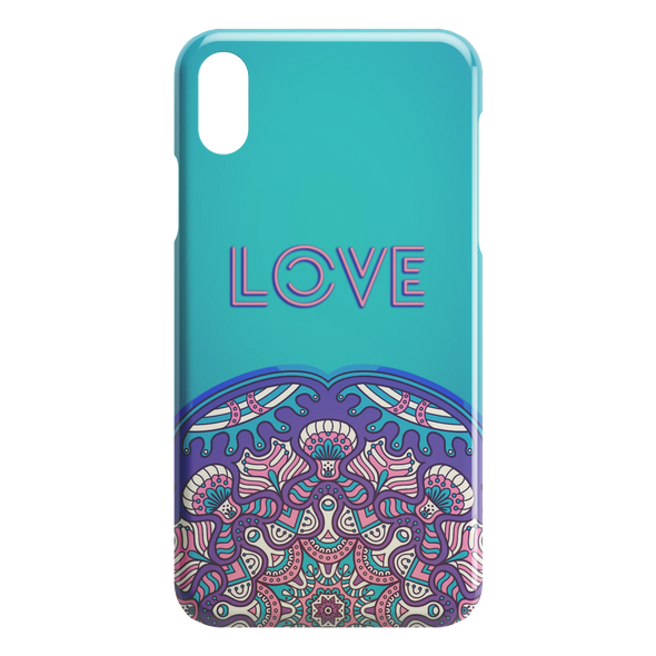 Love Mandala iPhone Case