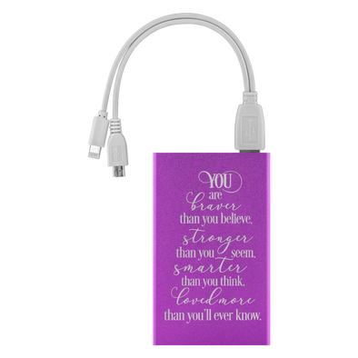You Are Braver Than You Believe... Power Bank