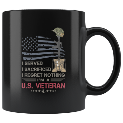 U.S. Veteran 11oz Black Mug