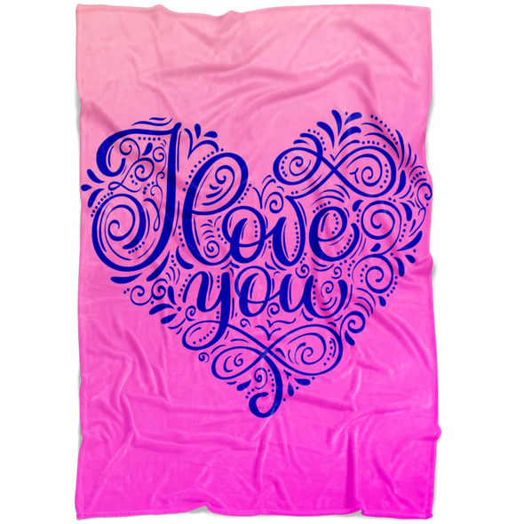 I Love You Fleece Blanket