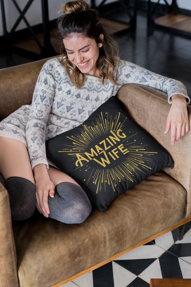 Amazing Wife Throw Pillow