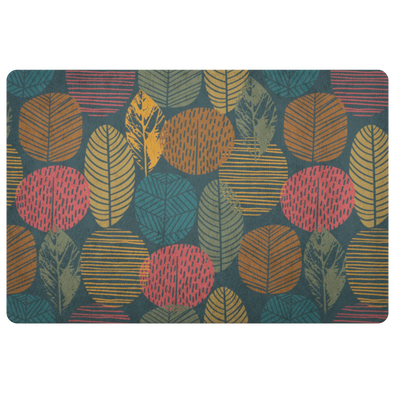 Dark Autumn Forest Indoor Floor Mat