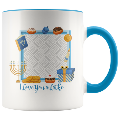 Love You a Latke Jewish Mug Personalized By Con Gusto