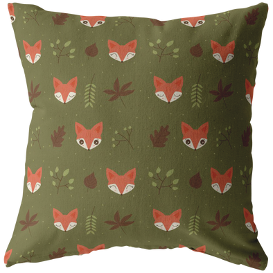 Fox in Autumn Throw Pillow