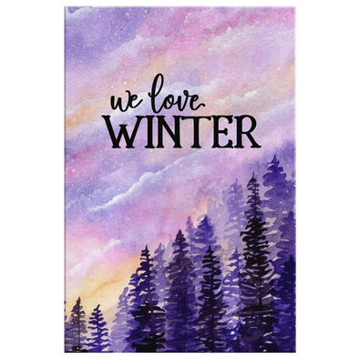 We Love Winter Canvas Wall Art