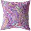 Purple Boho Feather Throw Pillow