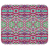 Boho Pattern Pink & Green Mousepad
