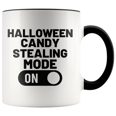 Halloween Candy Stealing Mode ON 11oz Accent Mug