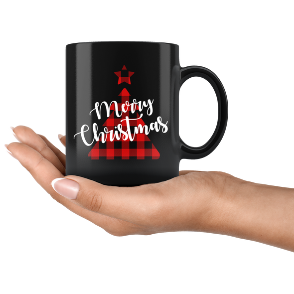 Merry Christmas 11oz Black Mug