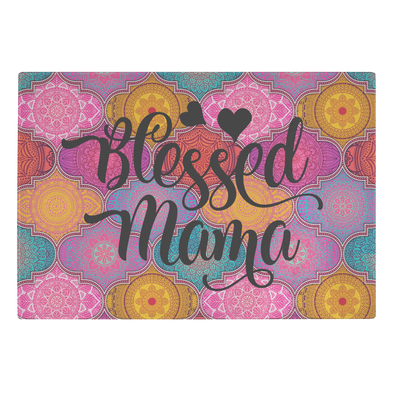 Blessed Mama Glass Cutting Board