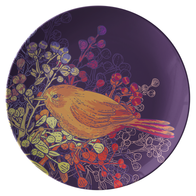 "Magical Birds & Seeds 10"" Dinner Plate"