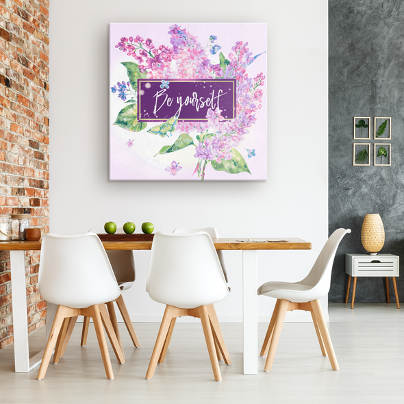 Be Yourself Spring  Canvas Wall Art