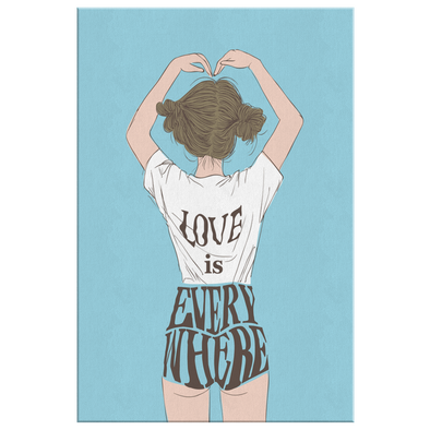 Love is Everywhere Canvas Wall Art