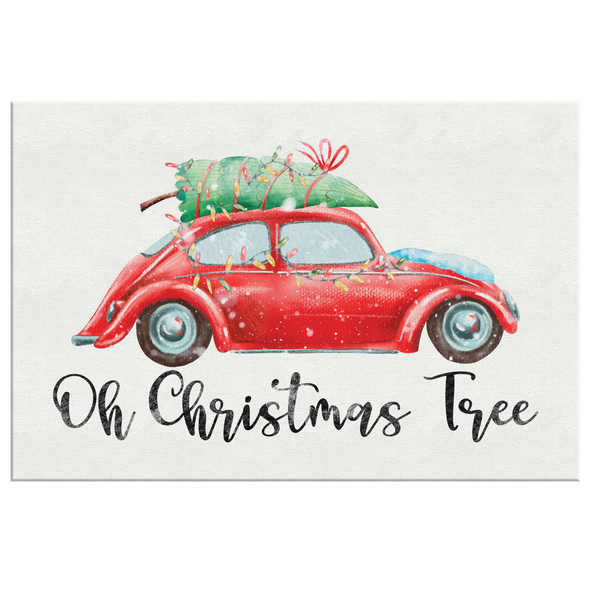 Oh Christmas Tree Canvas Wall Art