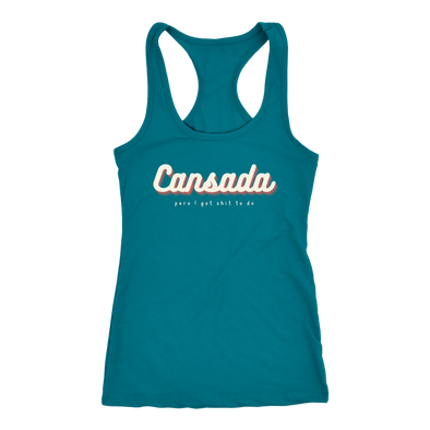 Cansada but I Got Shit To Do Women's Racerback Tank