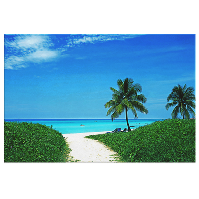 Playa Varadero Cuba Oleo Painting Style Canvas Wall Art