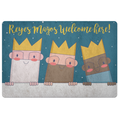 Reyes Magos Welcome Here Floor Mat
