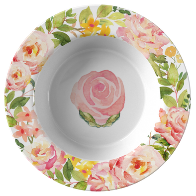 Delicate Pink Flowers Spring Bowl