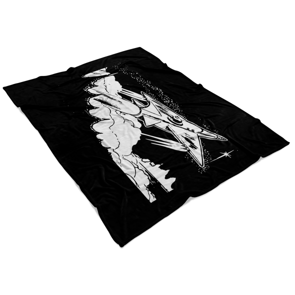 Spaceships Are Meant To Fly Fleece Blanket