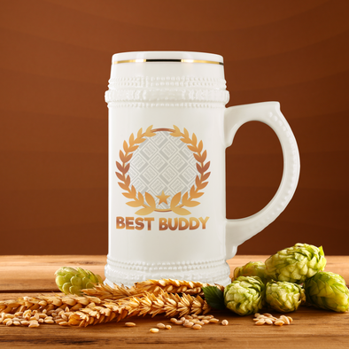 Best Buddy 22oz Beer Stein Personalized by Con Gusto