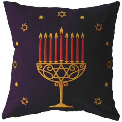Love and Light - Menorah Throw Pillow