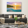 Infinity Pool Sunrise Canvas Wall Art