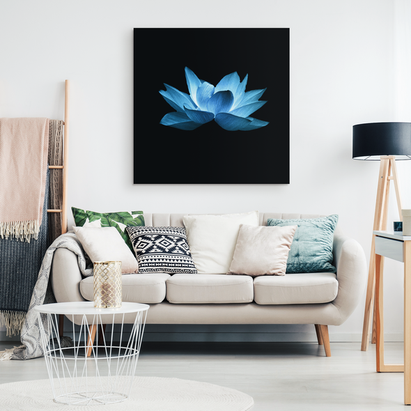 Blue Lottus Canvas Wall Art