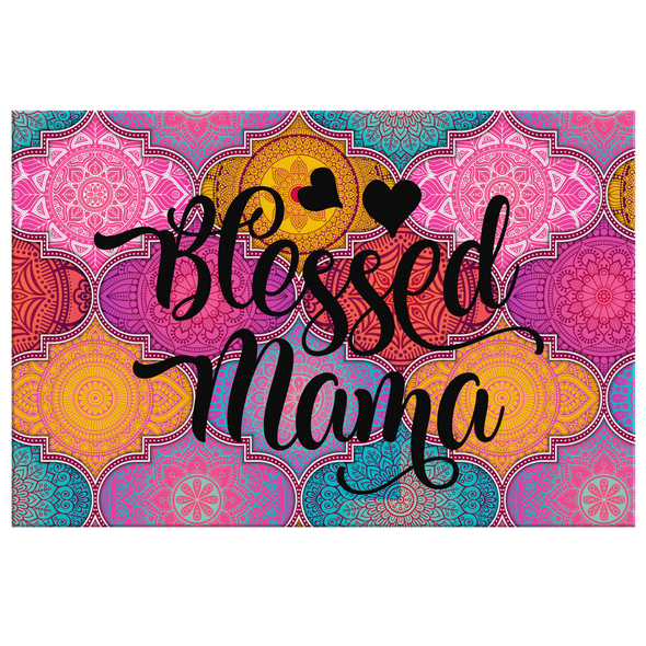 Blessed Mama Canvas Wall Art