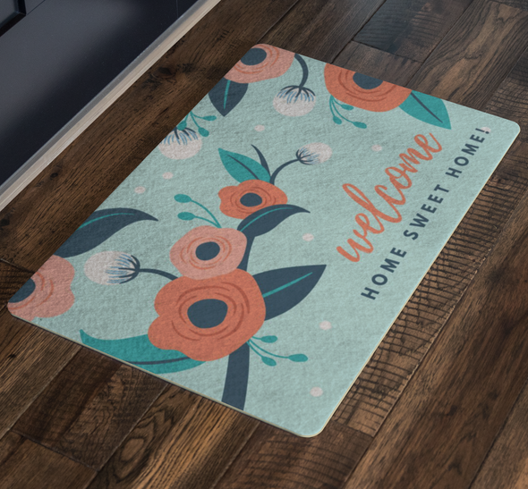 Welcome, Home Sweet Home! Spring Floor Mat