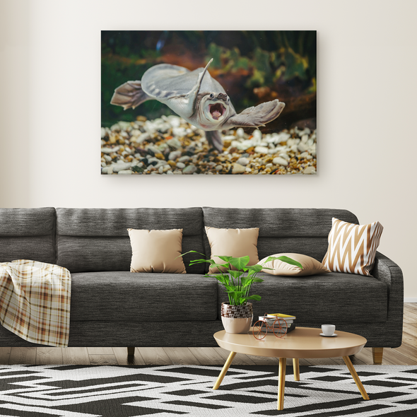 Happiest Turtle Canvas Wall Art