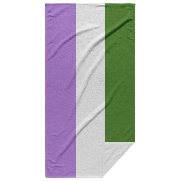 Queer Pride Flag Beach Towel
