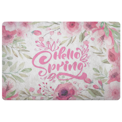 Pink Spring Time Floor Mat